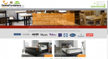 SALE on Beds, Mattresses, Furniture, Upholstery, Contract Furniture - Deans Furnishers Ltd, Ware, Herts - Nationwide UK Delivery