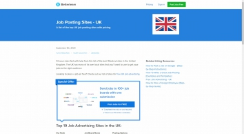 Top 20 Job Advertising Sites in the UK