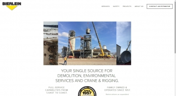 BIERLEIN   Your single source for demolition, environmental services, and crane and rigging.