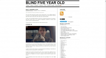Blind Five Year Old