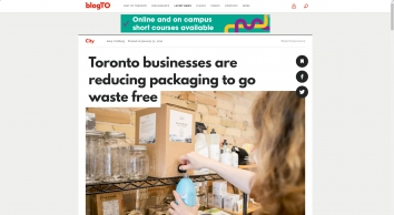 Toronto businesses are reducing packaging to go waste free