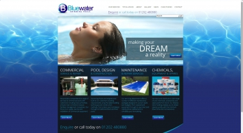 Swimming pool design and construction, domestic and commercial maintenance and repair, chemicals and spares