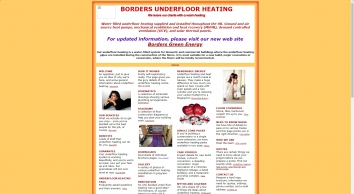 Underfloor heating from Borders Underfloor Heating Ltd - water underfloor heating systems & heat pumps