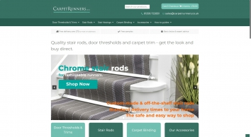 Quality Stair Rods for Runners, Door Thresholds & Flooring Trim: Great Choice & Free Delivery│Carpetrunners.co.uk