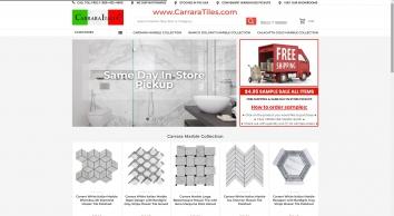 White Carrara Marble Tiles Mosaics Italian Bianco Carrera