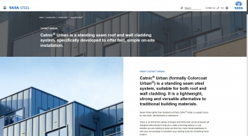 Colorcoat Urban, Quick Fit Roof & Wall Cladding | Tata Steel
