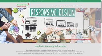 Community Web Initiative     Web Design Manchester     Mobile Responsive Design - Manchester Community Web Initiative
