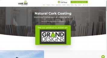 CorkSol UK - Sprayed Cork Coatings | Training Courses Available