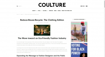 Reduce-Reuse-Recycle: The Clothing Edition - Coulture Magazine