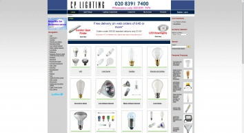 CP Lighting Ltd | Specialist lamp and lightbulb supplier & wholesaler | Call us now on +44 (0)20 8391 7474.
