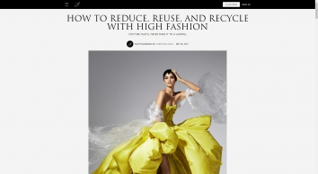7 Ways To Reduce, Reuse, and Recycle with High Fashion