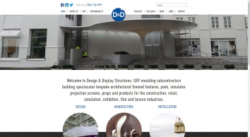 GRP Manufacturers, GRP Mouldings, Fibreglass Moulds and  Architectural Cladding Systems | Design and Display