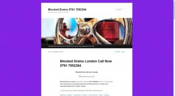 Blocked Drains Fixed Price London