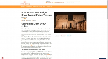 Aswan tour | Travel to sound and light show at Philae