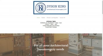 Dyson King (Architectural Ironmongers) Quarry Lane, Chichester- for door furniture, locks etc
