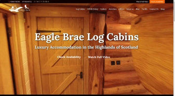 Eagle Brae: Luxury Log Cabins in Scotland | Self-Catering
