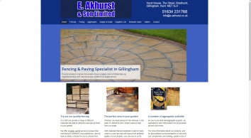 E. Akhurst & Son Limited - Fencing & Paving specialists in Gillingham