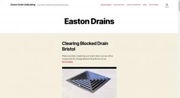 Easton Drain Unblocking – Essential to unblock blocked drain Easton