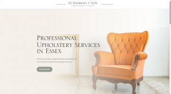 E J Andrews & Son, reupholsterers in Essex. Call 01245 476 029