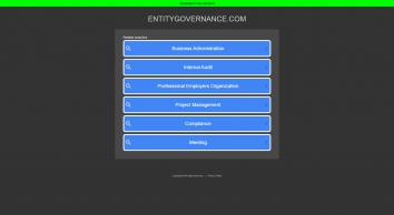Entity Governance   Think Global Compliance