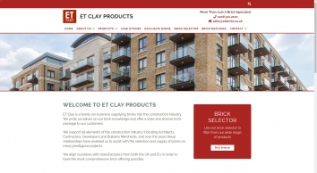 ET Clay Products Ltd :: House Bricks, Slate and Roof Tiles throughout the South East