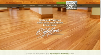 E.T. Moore Lumber - antique and reclaimed wood flooring, moulding, heart pine