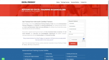 Excel Corporate Training in Bangalore | Advanced Excel Training