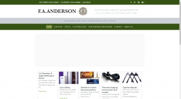 F A Anderson Country Clothing