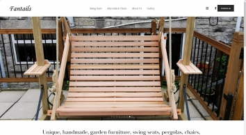 Home - garden swings, swing seats, adirondack chairs, wooden furniture from Fantails