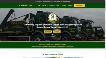 G. Farwell Ltd. | New Forest Skip Hire | Haulage | Timber | Aggregates