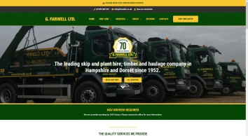 G. Farwell Ltd. | New Forest Skip Hire | Haulage | Timber | Aggregates