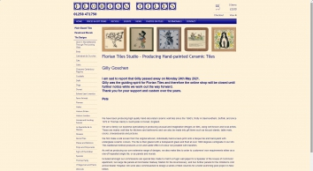 Florian Tiles, hand-decorated ceramic wall tiles, murals and gifts