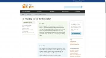 Is reusing water bottles safe?   Go Ask Alice!