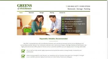 Greens of Middlesex   Removals Hayes, Uxbridge, Middlesex and Nationwide