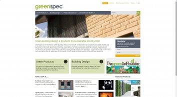 GreenSpec - Green Building Design, Products and Materials in the UK