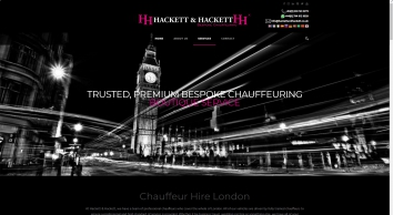 Chauffeurs London | Chauffeur Hire in London - Hackett & Hackett