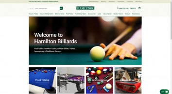 Hamilton Billiards Snooker Tables, Pool Tables, Accessories