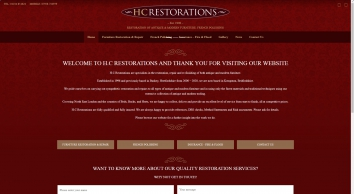 H C Restorations - Restorers of antique and modern furniture, French Polishing - Bushey, Hertforsdhire, UK.