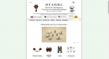 H E Savill Period Cabinet Fittings