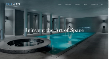Twinscape - designers and custom manufacturers of solutions for covering and dividing swimming pools.   Twinscape