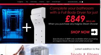 Insignia Range | Steam Shower, Shower Cabins, Steam Enclosures, Shower Cubicles
