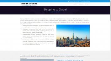 Shipping to Dubai - Shipping to Dubai from UK and London
