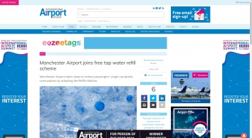 Manchester Airport joins free tap water refill scheme