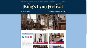 Kings Lynn Festival - mix of classical, choral, recital and cross-over events, music, theatre, art and exhibitions