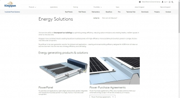 Energy Solutions | Insulated Panel Systems | Kingspan | Great Britain