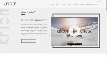 KRION Solid Surface Manufacturer | Solid surface Company