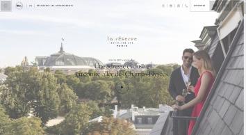 La Réserve Paris | Hôtel & Spa 5 Étoiles Paris