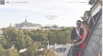 La Réserve Hotel & Spa   5 Star Luxury Hotel in Paris