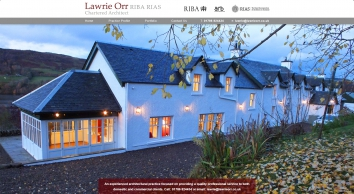 LAWRIE ORR RIBA ARIAS | CHARTERED ARCHITECT | T: 01786 824434 | Home