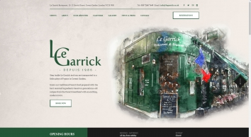 Le Garrick - French Restaurant London - French Food, French Cuisine in London Covent Garden, West End Restaurant -